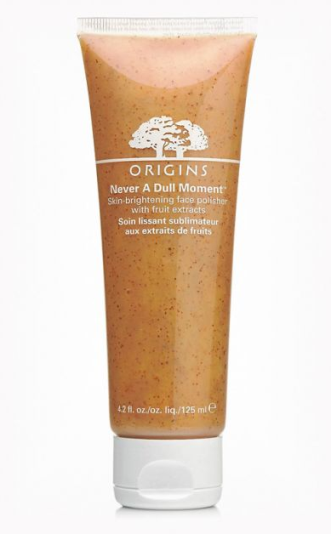 With all the products we put on our skin it's important to invest in a good face cleanser to get rid of any dead skin cells, dirt and makeup residue. The Origins Never a Dull Moment cleanser leaves the skin looking and feeling fresh! This can be found at most beauty/skin care retailers that carry Origins products such as Boots and Debenhams.