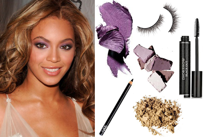 beyonce purple makeup