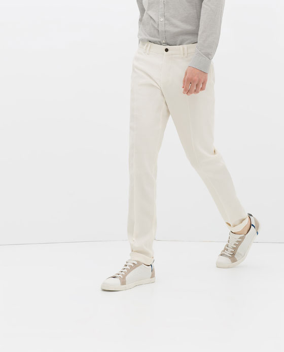 Zara Man Combined Fabric Trousers back AED 350